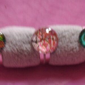 Bagues cabochon motifs arbre de vie, mandala et multicolores