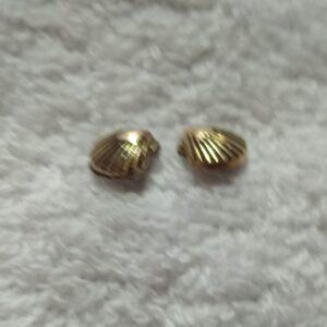 Clou d'oreille motif coquille saint – jacques en acier inoxydable