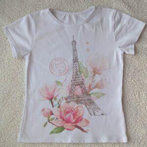 T – shirt la tour Eiffel motif florale