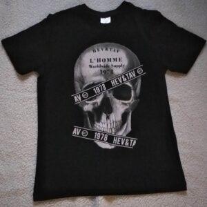 T – shirt Tête de mort en noir
