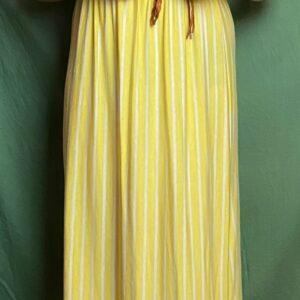 Robe portefeuille rayée jaune et blanc