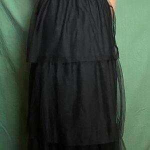 Robe longue sans manche en bordeaux ou en argenté pailleté