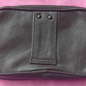 Pochette ceinture accroche passant en cuir semi souple mixte