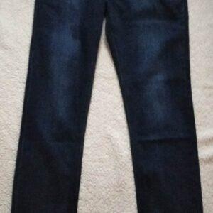 Jeans coupe droite stretch bleu foncé