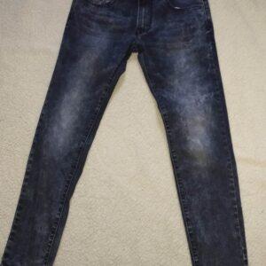 Jeans slim fit bleu vieillit