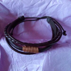 Bracelet en cuir mixte