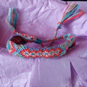 Bracelet style brésilien mixte en coton